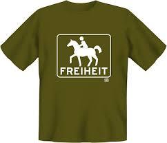 Freiheit Pferdt Shirt Aus 100 Baumwolle Mit Hochwertigem M