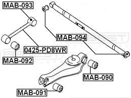 552254a000 arm bushing for the rear suspension for hyundai kia bushing kits amazon canada