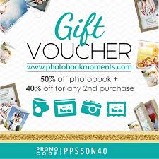 gift voucher 50 off photobook 40 off for any 2nd purchase promo code pps50n40