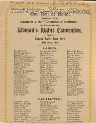 primary sources history of u s w s suffrage declaration of sentiments
