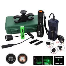 <b>5000LM Hunting Flashlight</b> XM L T6 LED Torch Tactical Green/Red ...