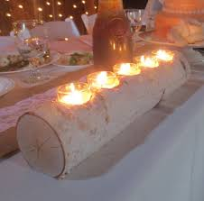 photo gallery of the birch log candle holder for fireplace