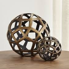 Decorative Sphere Balls Fascinating Geo Decorative Metal Balls Decorative Spheres Mesas Home Decoration