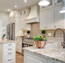 A Neutral Colored Kitchen Looks Clean And Fresh The Patterned