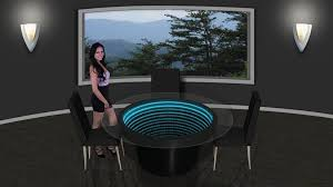 mirror effect furniture. 48 inch round infinity mirror dining table effect furniture