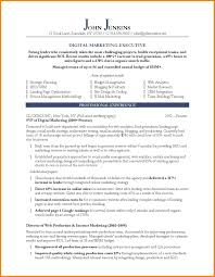 Digital Marketing Project Manager Resume Example Format Tar Saneme