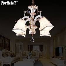 european crystal chandelier zinc alloy fabric lampshade restaurant bedroom study lamp villa staircase lamp hotel conference room lamp shade down lamp d7189