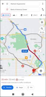 google maps from walking to driving