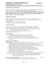 Sql Server Developer Resumes Pl Sql Developer Resume Database Developer Sample Resume As