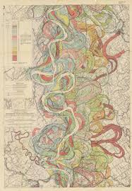 Lower Mississippi River Charts The Meandering Mississippi River And How It Evolved Over