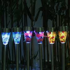 Mosaic Power And Light The New Solar Lamps Power Mosaic Led Garden Light Stainless