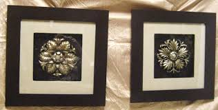 Bronze Wall Decor Decoration Stunning Wall Decor Ideas With Black Framed Paired