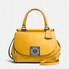 COACH Drifter Top Handle Satchel in Mixed Leather - Handbags   Accessories  - Macy s