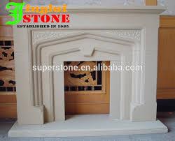 white cream beige black grey granite marble stone fireplace surround