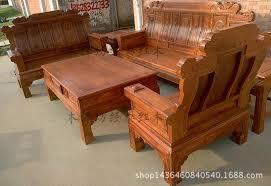 mahogany furniture African pear sandalwood hedgehog living room