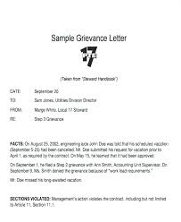 Free Employee Grievance Letter Template Download Documents In Word ...