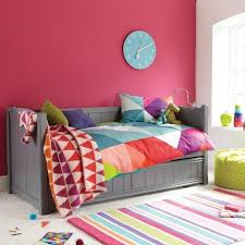 kid s daybed with trundle in dark grey