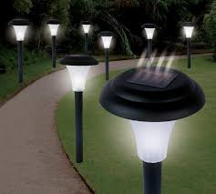 solar powered path lights solar light set outdoor deck lighting solar light lamp