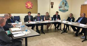 photo caption congressman brad schneider speaks at a roundtable meeting with patients doctors and community leaders on the opioid crisis