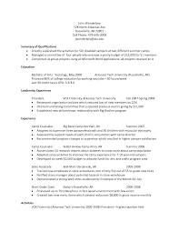 Paraprofessional Resume Template With Good Summary Of Qualifications