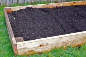 raised bed frame filled with soil copyright jebournon at dreamstime com