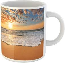 Find tripadvisor traveler reviews of sunrise beach cafés and search by price, location, and more. Amazon Com Awowee Coffee Mug Sunset Colorful Ocean Beach Sunrise Florida Bahamas Cayman Grand 11 Oz Ceramic Tea Cup Mugs Best Gift Or Souvenir For Family Friends Coworkers Kitchen Dining