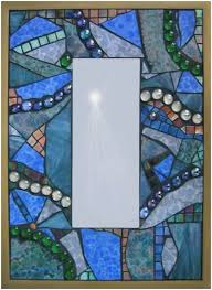 stained glass mosaic mirror post