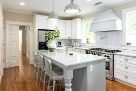 farmhouse kitchen industrial pendant. Kitchen: Outstanding Farmhouse Gray Kitchen Island Under Modern Industrial Pendant Lights With Chrome Pot Filler ,