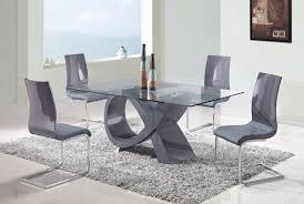 contemporary modern kitchen table set brilliant black in decor