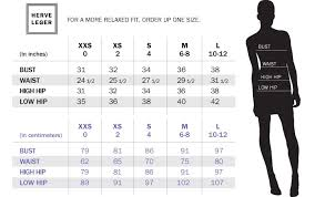 Banana Republic Dress Size Chart Herve Leger How To Determine What Size You Need Herve