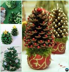 How To Make Pine Cone Christmas Trees  How To InstructionsPine Cone Christmas Tree Craft Project