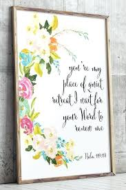 scripture wall art my place of quiet retreat i wait for your word to renew me scripture wall art  on scripture wall art uk with scripture wall art bible scripture wall sign custom wood sign bible