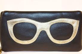 ili leather sunglass case gold close