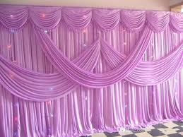 wedding ds diy ice silk backdrop curtains with swag luxury stage props decorations rustic