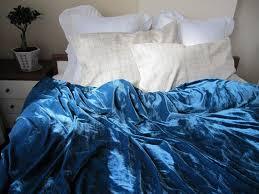 petroleum teal blue velvet duvet cover