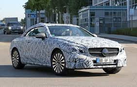 Mercedes-Benz E-Class Convertible Spied Looking Like a Baby S ...