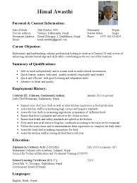 Himal Awasthi Commis Chef Cv 1 Page