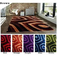 orange area rug 8x10 feet modern contemporary gy brown red orange purple blue green area