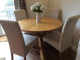 round oak table and 4 chairs reduced