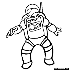 Small Picture Astronaut Coloring Page Free Astronaut Online Coloring