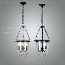 bell jar pendant light with 3 candle lights zoom uk