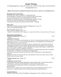 10 Sample Resume For Paralegal Position