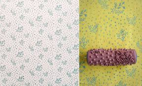 Patterned Paint Rollers: Create Classic Wallpaper via Painting
