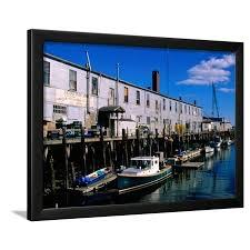Old Port Exchange Area Fishing Docks Portland Maine Framed Print Wall Art By John Elk Iii Walmart Com