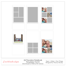 Notebook Templates Larkindesign Travelers Notebook Photo Templates Volume 01