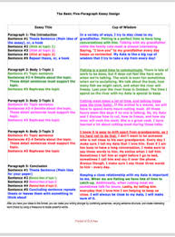 Photo Essays Examples 5 Paragraph Essays 4 Examples Color Coded Basic Essays
