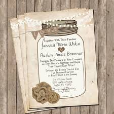 Burlap And Lace Wedding Invitations Mason Jar Rustic Burlap And Lace Wedding Invitation Invite