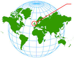Image result for where is wales on a world map
