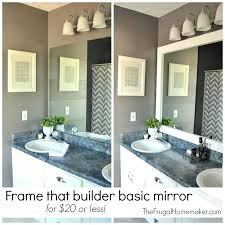 Frame A Bathroom Mirror How To Frame Bathroom Mirror Frame Bathroom