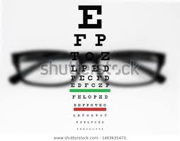 Blurry Eye Test Chart Visual Test Chart Eye Front Blurred Stock Photo Edit Now